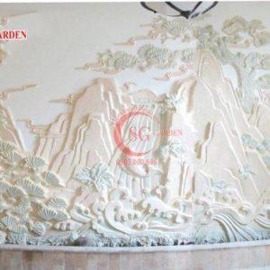 Thi công cung cấp tranh phù điêu sơn thủy composite 1