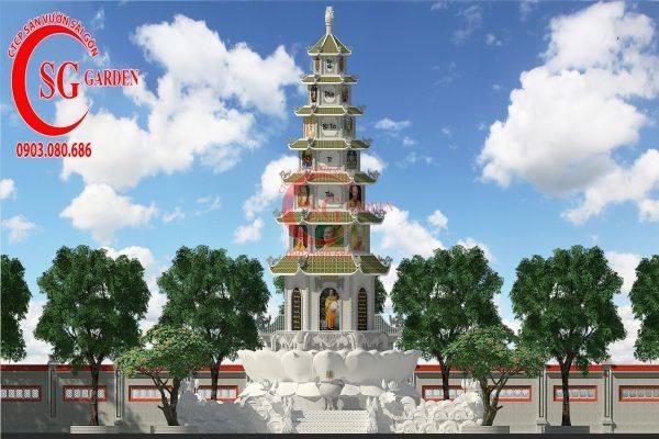 Thiết kế tháp bát nhã chùa Hội An Đồng Nai 6