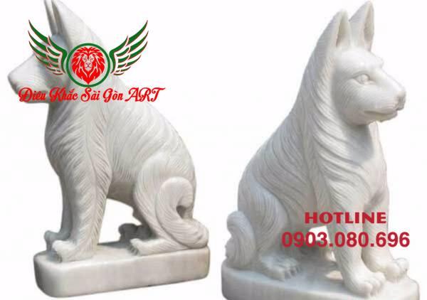Tượng điêu khắc con chó 1