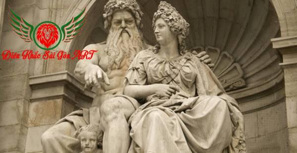 Điêu khắc tượng nữ thần Hera 3